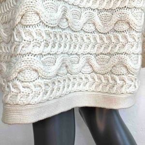 Donna Karan Dresses - DKNY Womens Cable Knit Sweater Dress Ivory Long Sl